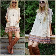dress boho bohemian boho chic tall boots lace up boots
