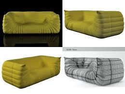 togo sofa 3d togo sofa 198 cgtrader