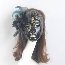black bauta mask paper and black bauta venetian masquerade mask ebay
