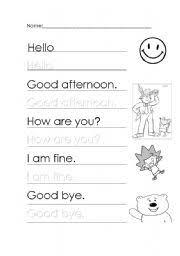 english worksheet greetings and farewells educación pinterest
