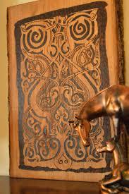 wooden wall art home decor medieval art horse art historical