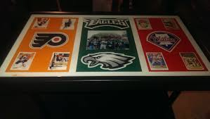 themed coffee table 30 x 20 philadelphia sports themed coffee table with clear gloss