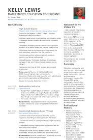 Resume Examples For Teachers by High Teacher Resume Samples Visualcv Resume Samples Database