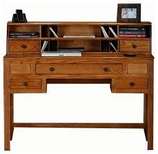 oak ridge writing desk w hutch dark oak contemporary desks and