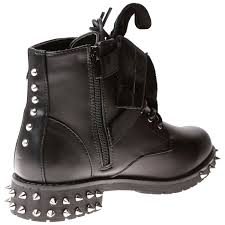 women s lace up biker boots womens shoes ladies biker boots ankle velvet bow ribbon buckle