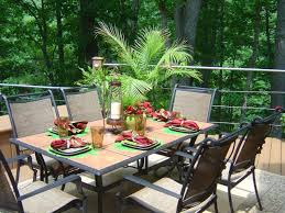 Plans For Patio Table by Outdoor Dining Table This Outdoor Dining Table Is Set Simply But