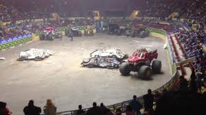 texas monster truck show monster truck big foot flips over live show in lubbock texas 2010