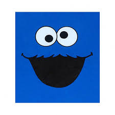 amazon com sesame street cookie monster face t shirt clothing