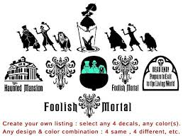 make your own mansion create your own haunted mansion decal listing 4 lot