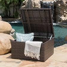 amazon com kingston outdoor wicker square storage ottoman