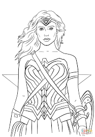 free printable super hero coloring woman