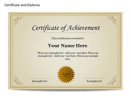 certificate u0026 diploma chart template for powerpoint certificate