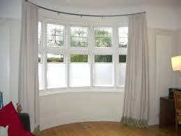 How To Put Curtains On Bay Windows Ceiling Curtain Rods Bay Windows Decoration And Curtain Ideas