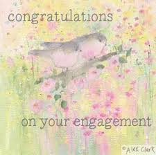 Congratulations On Your Engagement Card Engagement Love Birds Card Karenza Paperie