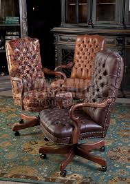 Small Leather Desk Chair Leather Tufted Executive Chairs Brumbaugh U0027s Fine Home