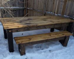 farm tables with benches 8 foot farm table etsy