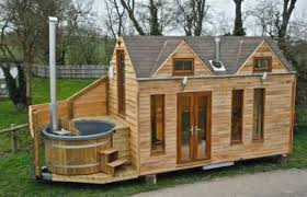 wood houses tiny house with hot tub unique minimalist homes