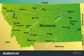 Montana Highway Map Montana Ipl2 Stately Knowledge Facts About The United States