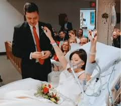 after wedding woman with breast cancer dies 18 hours after hospital wedding