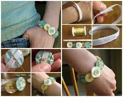 easy diy bracelet tutorials images Easy diy button bracelet jpg