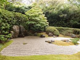 zen rock garden seen in san francisco