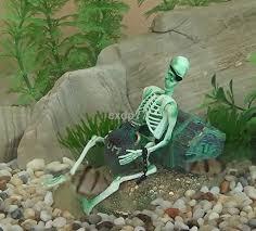 air skeleton w rum aquarium ornament fish tank decoration