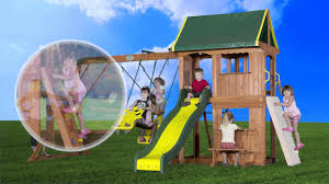 backyard discovery somerset all cedar wood playset swing set youtube