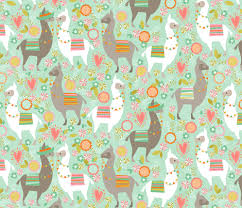 llama wrapping paper llama large fabric cjldesigns spoonflower