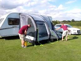 Glossop Caravans Awnings Kampa Rally Air Blow Up Awning White Arches Caravans Youtube