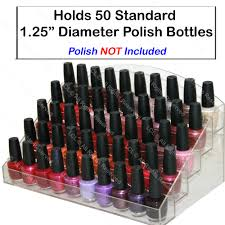 new acrylic nail polish table counter top display rack stand spa
