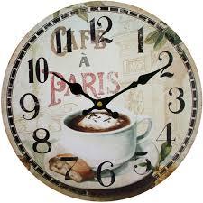 Grande Horloge Murale Carrée En Bois Vintage Achat Vintage En Bois Horloge Murale Grand Shabby Chic Rustique Suspendus