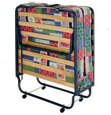 Folding Bed With Mattress Innerspace Firenze Roll Away Guest Bed With Metal Frame And Memory