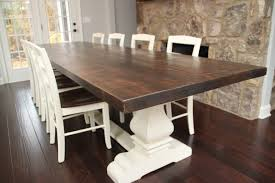 farm table dining room josh leg pedestal base farm table farmhouse dining room