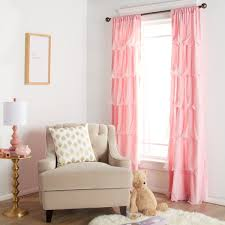 Ruffled Curtains Pink Pink Ruffle Curtains Set Of 2 Ruffle Curtain Panels Light Purple