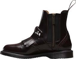 doc martens womens boots sale dr martens tina kiltie brogue chelsea boot cherry arcadia