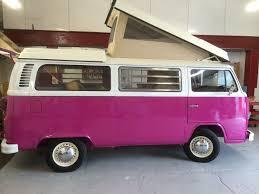 van volkswagen pink classic vw campervan hire and vw motorhome hire scotland kombi campers