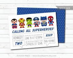 super heroes invitation avengers hero birthday party