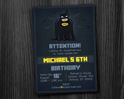 batman birthday invitation printable