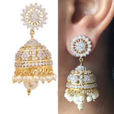jhumka earring swasti jewels zircon fashion jewelry traditional