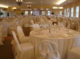 seat covers for wedding chairs chair covers of lansing doves in flight decorating