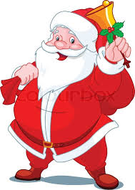 santa claus picture santa claus with sack of gifts stock vector colourbox