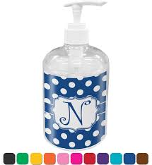 amazon com polka dots bathroom accessories set personalized