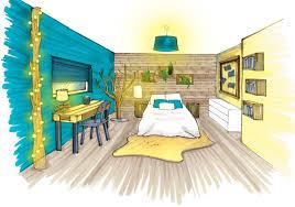 dessin chambre en perspective croquis architecture intérieure recherche dessin archi