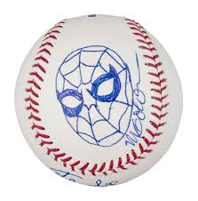 lot detail stan lee signed baseball with michael golden sketch