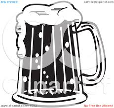 beer cartoon black and white beer stein black and white clipart 2076614