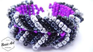 youtube bead bracelet images How to make chevron bracelet beading tutorial jpg