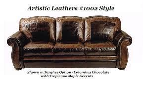 Leather Conversation Sofa Bradley S Furniture Etc Artistic Leather Premium Rustic Sofas