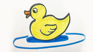 how to draw and color a baby duck for kids youtube