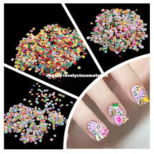 nail art stickers fimo clay 3d 3 series flower fruit animal design