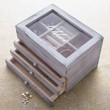 personalised jewelry box personalised wooden jewellery box with drawers wooden jewelry